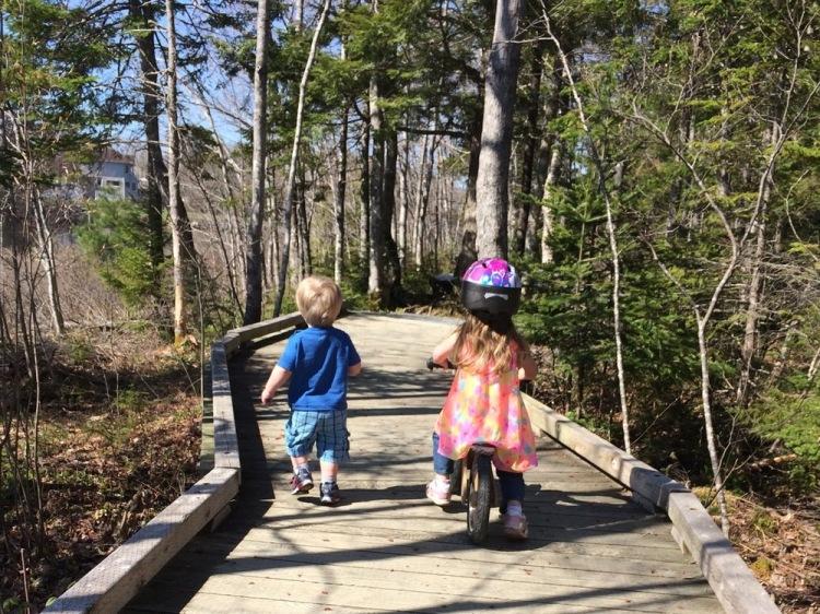 My little Haligonians enjoying the First Lake Trails