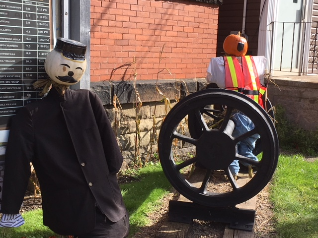 Train conductor in the town of Kentville.