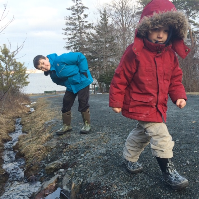 Exploring Point Pleasant Park:  Image courtesy of the Swain family